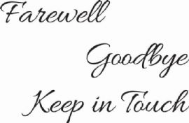 Woodware - Farewell Goodbye Keep In Touch - Clear Magic Just Words Tiddler - JWS080